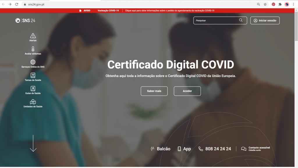 pagina sns24 certificado digital covid